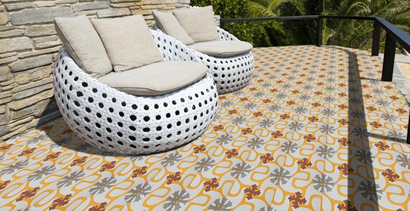 mosaicos hidráulicos de exteriores