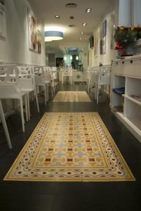 mosaico pasta - Colocación de mosaico de pasta