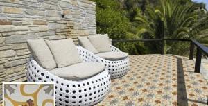 baldosas terraza - Baldosas de exterior hidráulicas: Ideas, diseños y mantenimiento