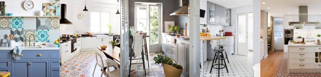 baldosa cocina 1024x248 - Baldosas y suelos hidráulicos para cocina: Diseños y consejos para elegir la mejor