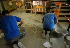 como colocar baldosas suelo - Instalación y colocación de suelo hidráulico